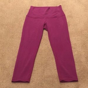 Lululemon Hi-rise Wunder Under Crop